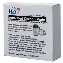 Activated Carbon Mega Pods - 6 Pack